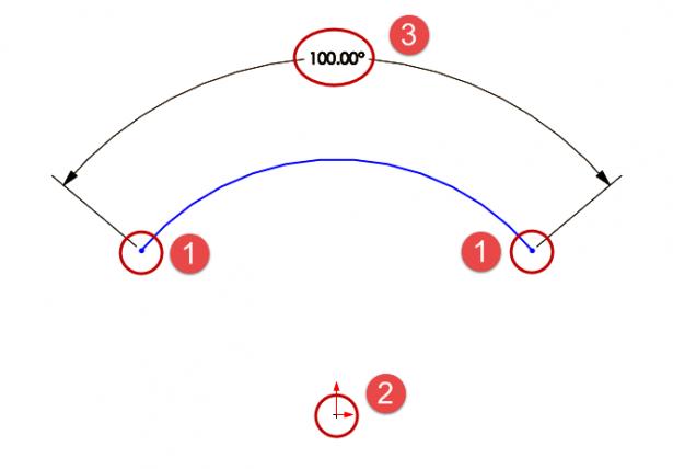 Arc Angle Dimension