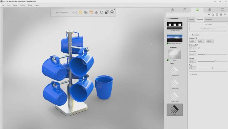 Discover the new Area Light capability in SOLIDWORKS Visualize 2018