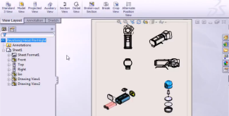 MySolidWorks Learning: Assembly Drawing Views