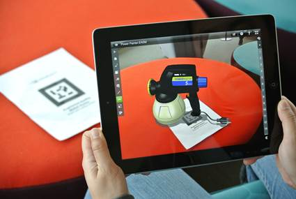 Augmented reality in eDrawings App image1