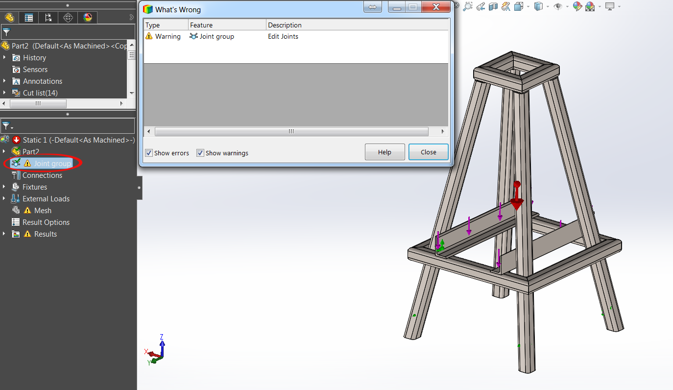 Automatically Update Beam Joints