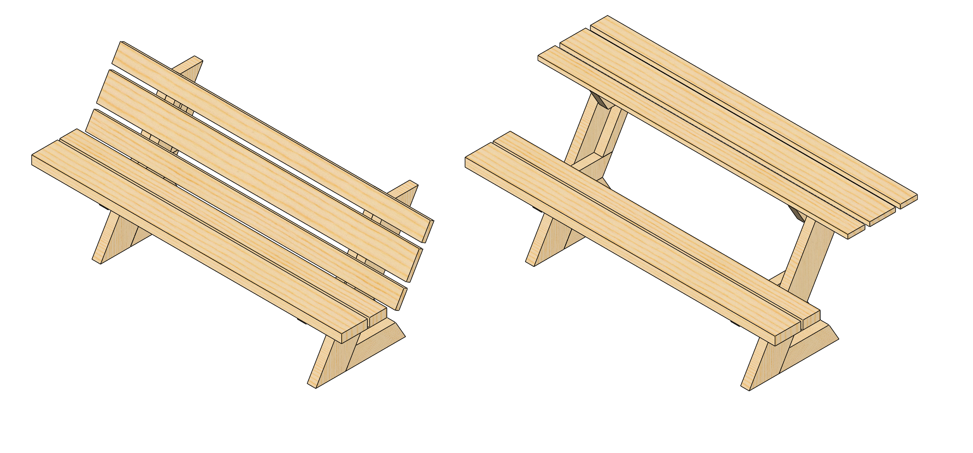 Part Reviewer Folding Chair Picnic Table Tutorial - Picnic table dwg