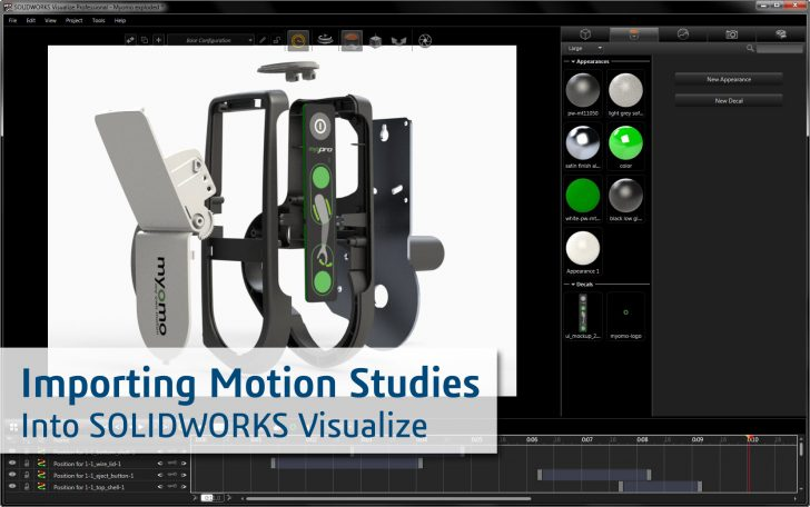 Importing Motion Studies into SOLIDWORKS Visualize Professional 2017
