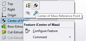 Center of Mass Reference Point