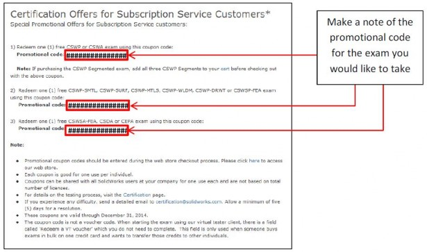 Certification Offers for Subscription Customers