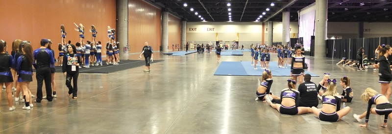 Cheerleader competition at Phoenix Convention Center