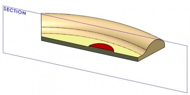 Cross Section of 3D CAD Pizza