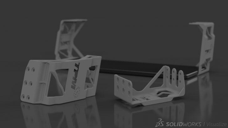 Custom Desk Bracket Design