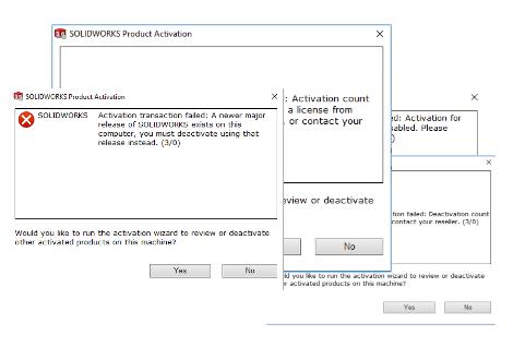 Deactivation errors