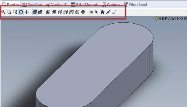 EDrawing user interface