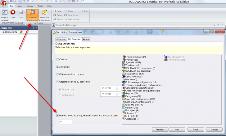 SOLIDWORKS Electrical Tech Tip: Archive Your Environment!