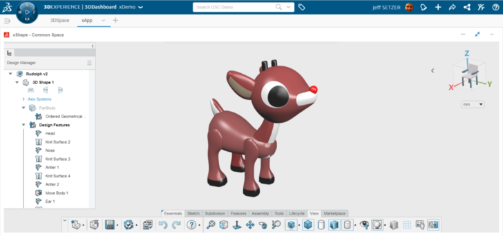 3D Sculpting a Favorite Character: Designing Rudolph on the 3DEXPERIENCE Platform