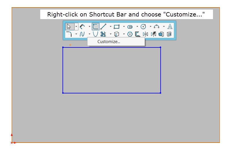 Shortcut Bar Customization Figure 2