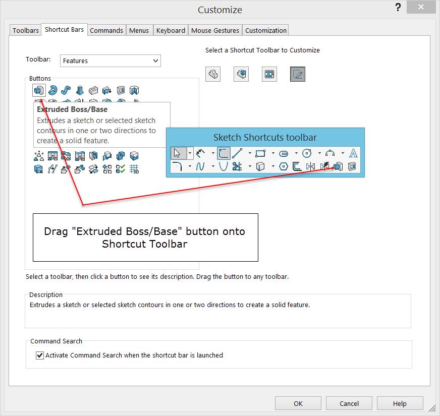 Shortcut Bar Customization Figure 4