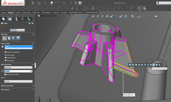 Saving Time with FilletXpert in SOLIDWORKS