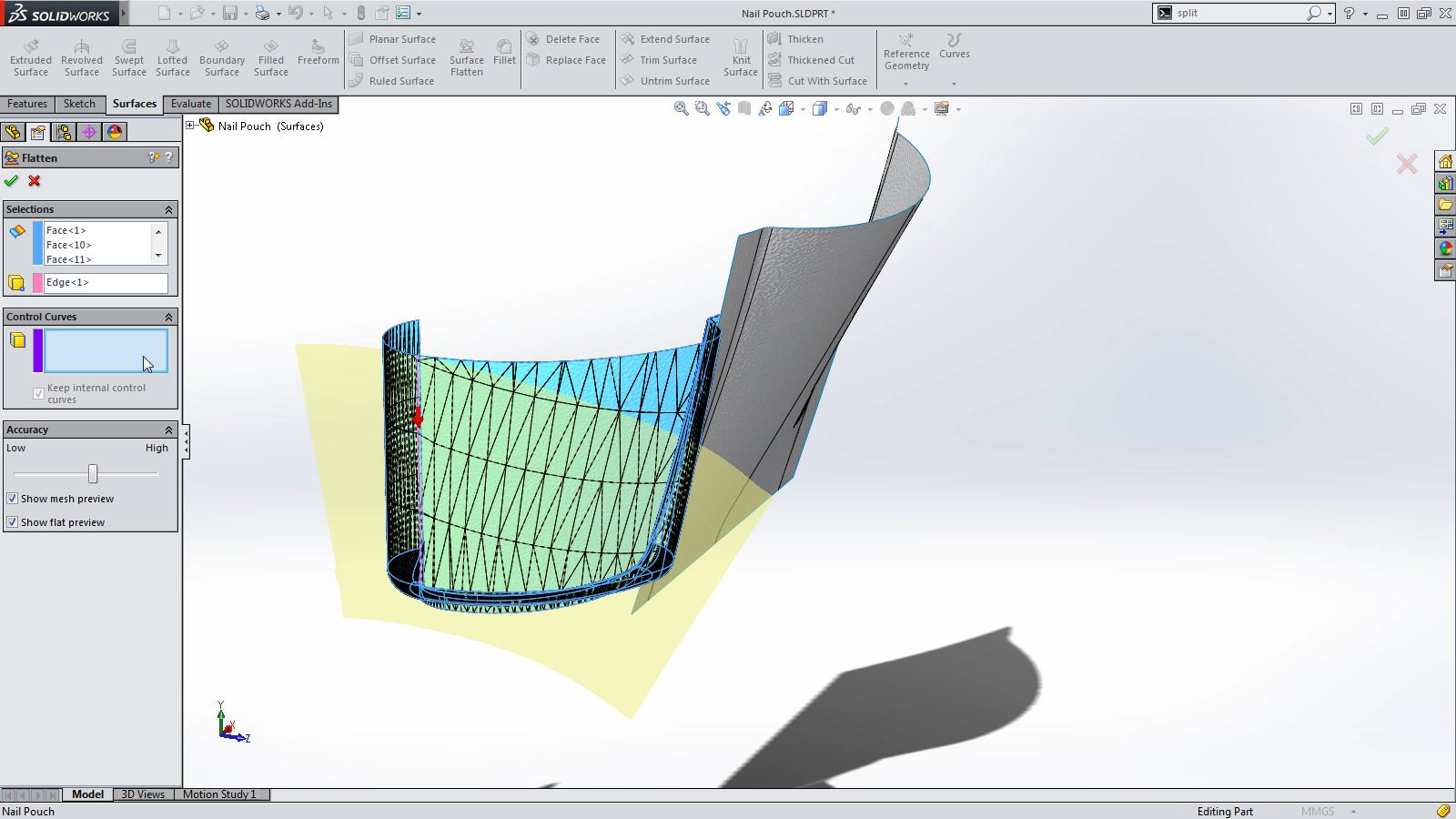 SOLIDWORKS 2015 Sneak Peek: Flatten Surface
