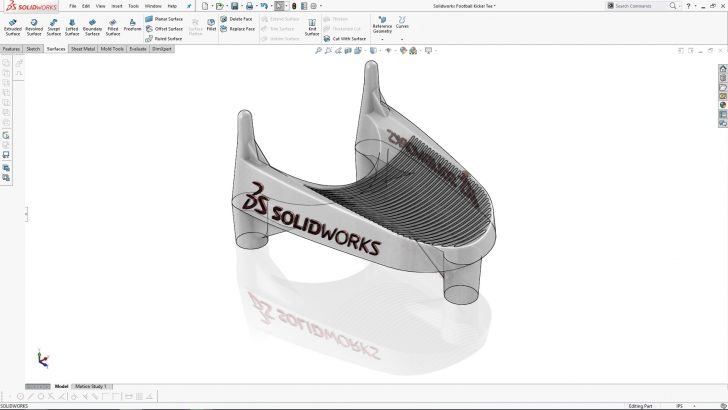 SOLIDWORKS Football Kicker's Tee Part 3