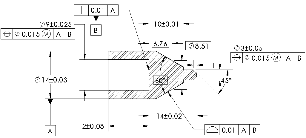 5 steps to creating gdt drawings for superior quality g d and t schema for plunger ccuart Choice Image