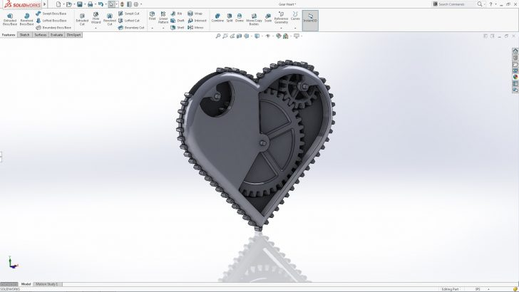 SOLIDWORKS Gear Heart Tutorial – Part 2