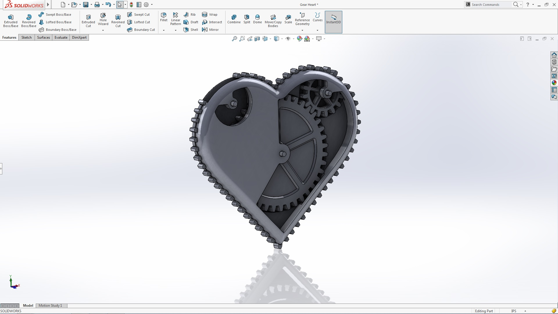 SOLIDWORKS Gear Heart Tutorial - Part 2
