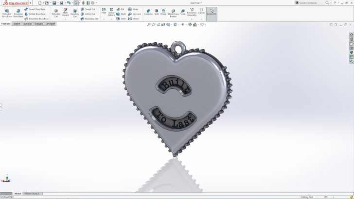SOLIDWORKS Gear Heart Tutorial – Part 3