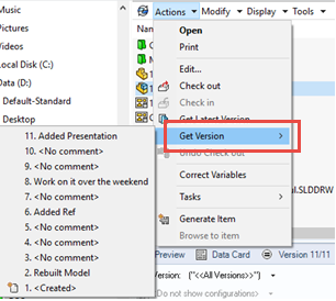 How to Enable the 'Get' Command in SOLIDWORKS PDM