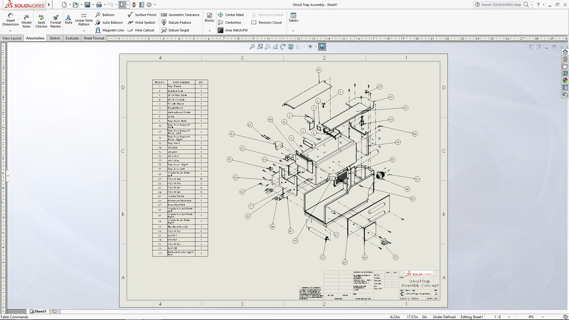 Solidworks Ghost Trap Tutorial Part 5