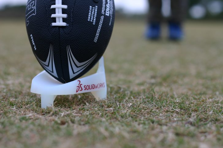 SOLIDWORKS Football Kicker's Tee Part 1