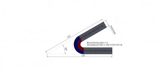 弯曲余量-SOLIDWORKS钣金工具6
