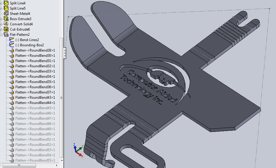 Incremental Bending With SOLIDWORKS Sheet Metal