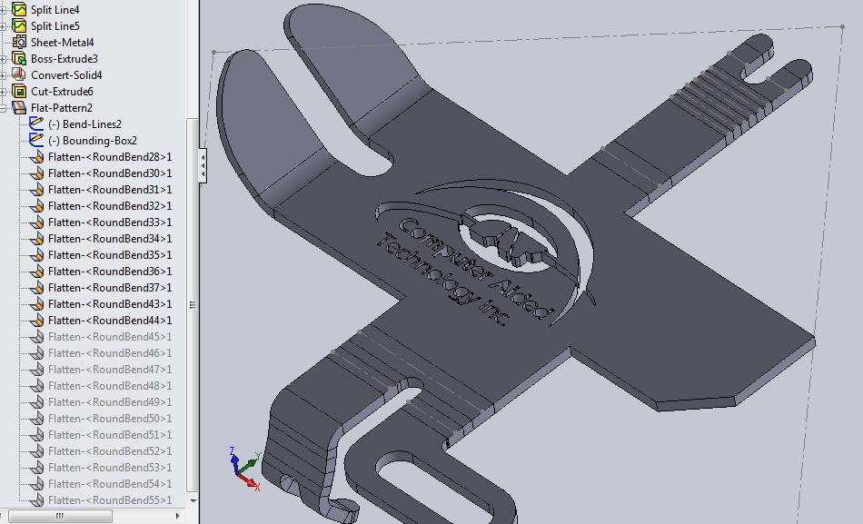 sheet metal drawing using solidworks pdf