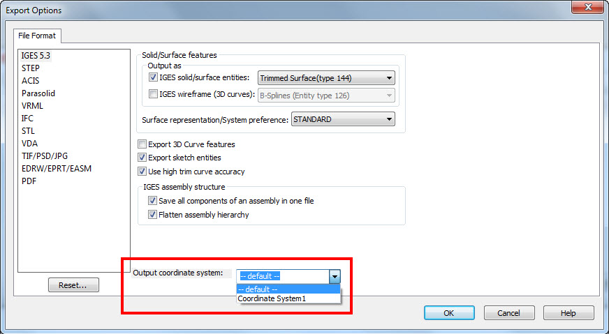 a8c9f043b6c Re-import the model back into SolidWorks and it will now be in the  orientation of the new Coordinate System and any model changes you made to  correct bad ...