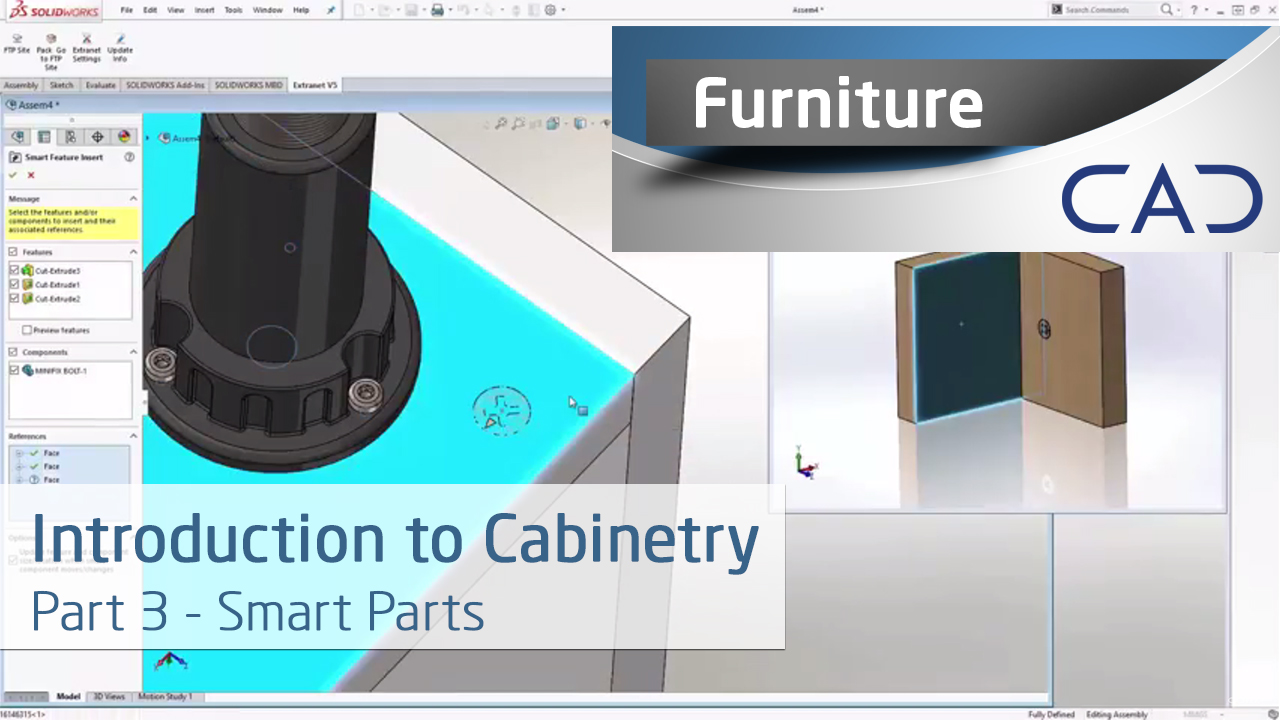 Cabinetry In Solidworks Part 3 Using Smart Parts