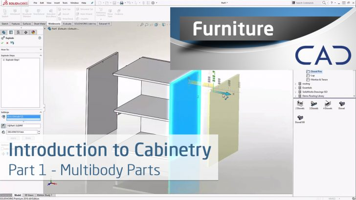 Introduction to Cabinetry in SOLIDWORKS: Multibody Parts