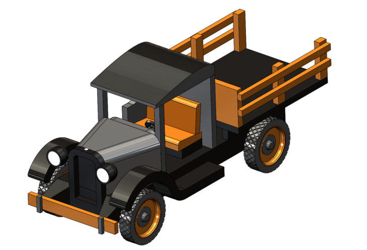 SOLIDWORKS Part Reviewer: Wooden Truck