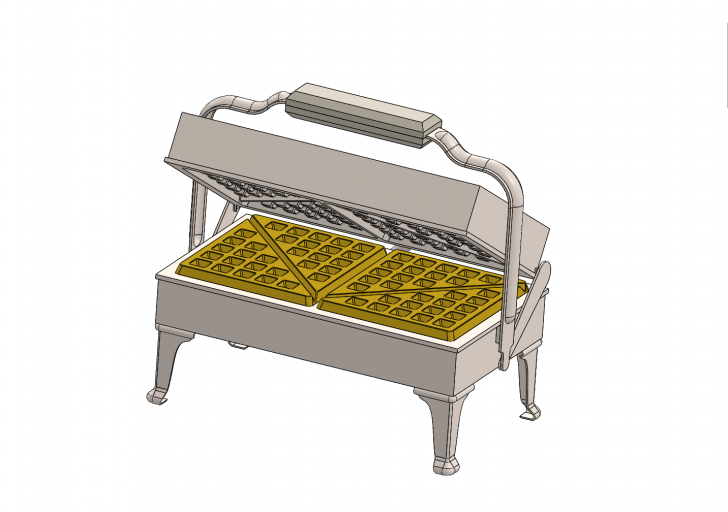 SOLIDWORKS Part Reviewer: Waffle Iron Tutorial