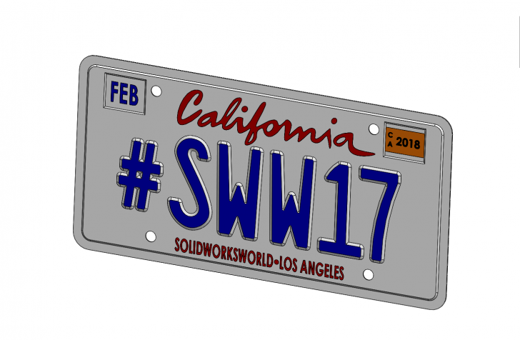 SOLIDWORKS Part Reviewer: #SWW17 License Plate Tutorial