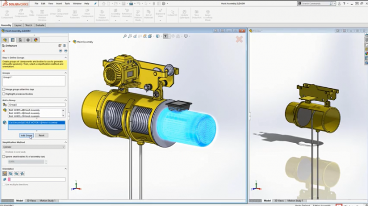 Why you should use the defeature tool in SOLIDWORKS 2019