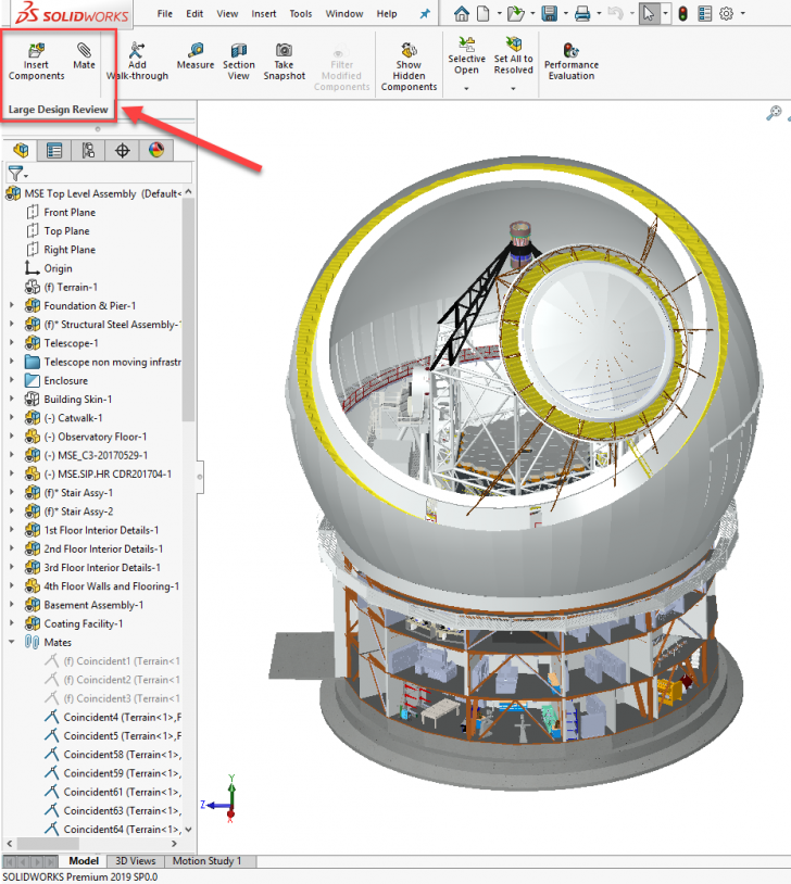 Speed up Assemblies using SOLIDWORKS Large Design Review Mode