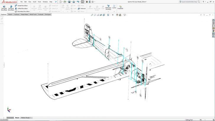 SOLIDWORKS Lindbergh's Spirit of St. Louis Tutorial – Part 1