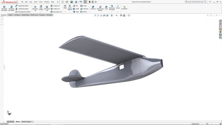 SOLIDWORKS Lindbergh's Spirit of St. Louis Tutorial – Part 3