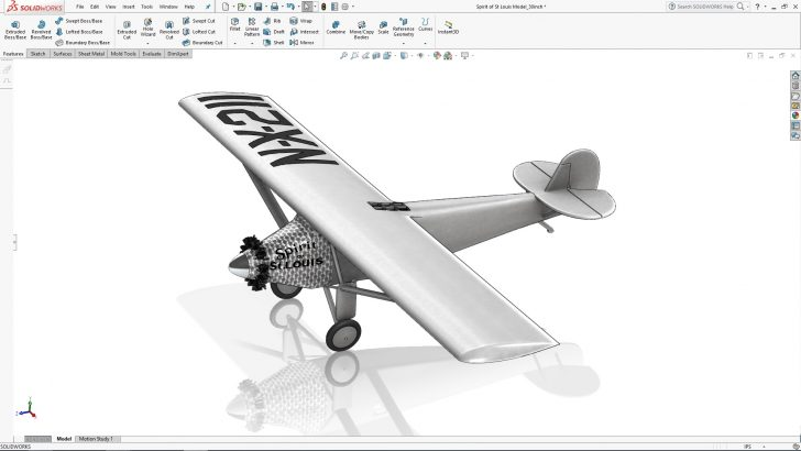 SOLIDWORKS Lindbergh's Spirit of St. Louis Tutorial – Part 5