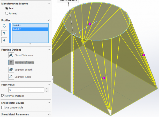 How To Create Solidworks Lofted Bends