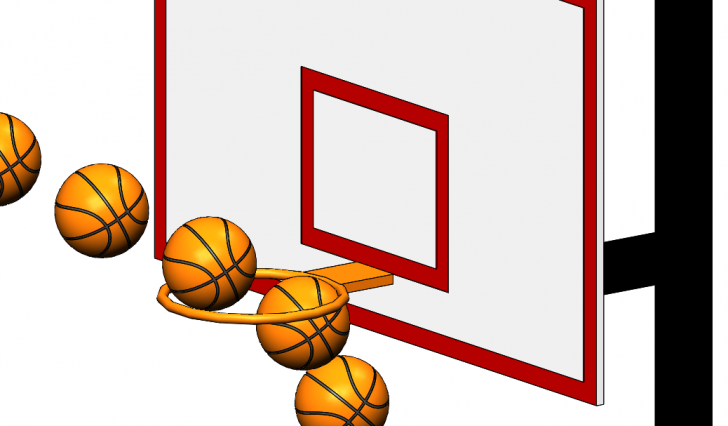 The Longest Scoring Shot in the History of the NBA in SOLIDWORKS Motion