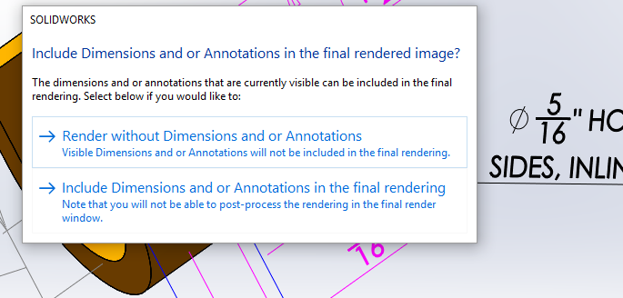 Annotations in Rendered Images