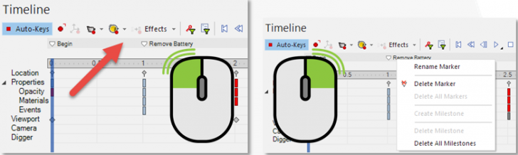 SOLIDWORKS Composer Using Markers and Milestones