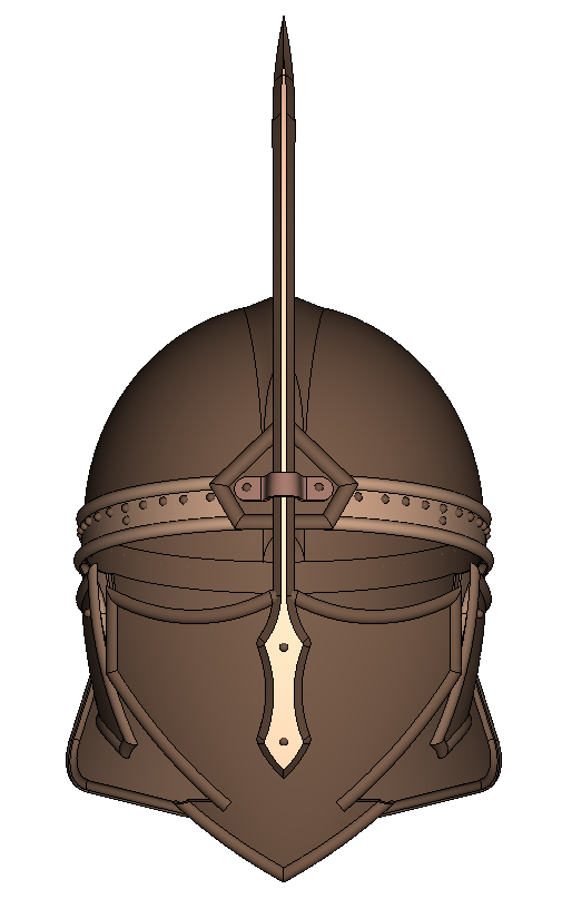 SOLIDWORKS Part Reviewer: Medieval Battle Helmet