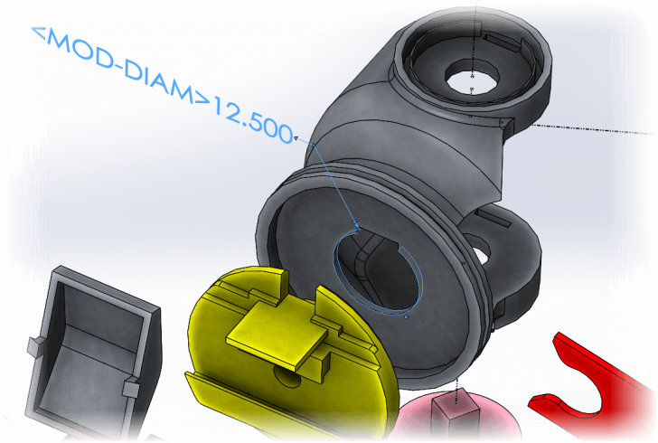 How to remove MOD-DIAM from your SOLIDWORKS design