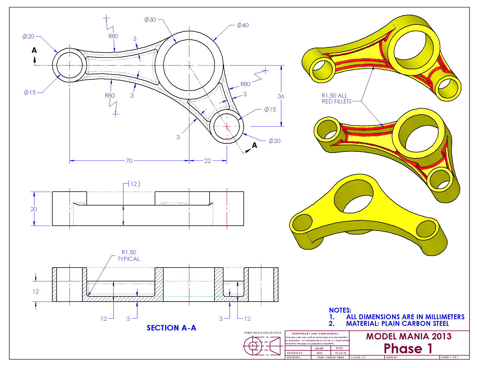 SolidWorks Drawings - ANSI 2013 Training Manual Brand New Cheap