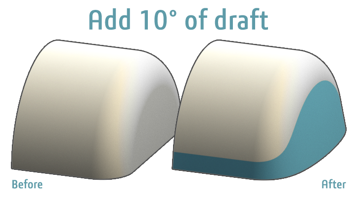 Modeling Challeneg - Drafting Curved Faces